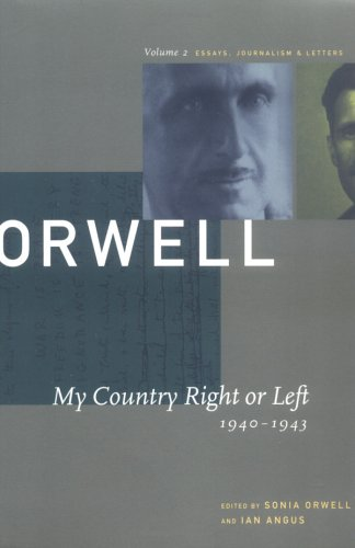 My Country Right or Left by George Orwell