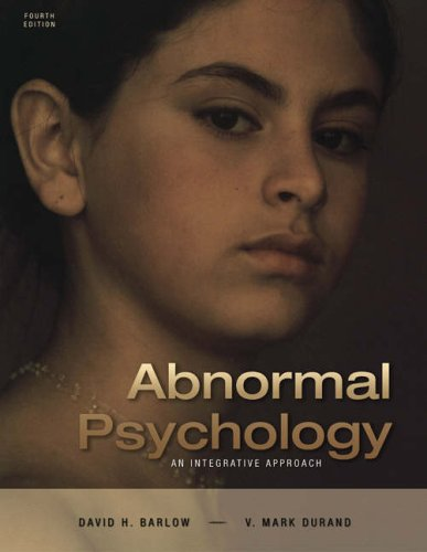 Abnormal Psychology: An Integrative Approach [With CDROM and Infotrac]