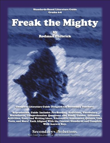 book report of freak the mighty It was called freak the mighty  now for any kids who are interested in doing  book reports, now i hated to do book reports when i was a boy, but i did them.