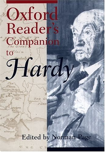 The Oxford Reader's Companion to Hardy by Norman Page