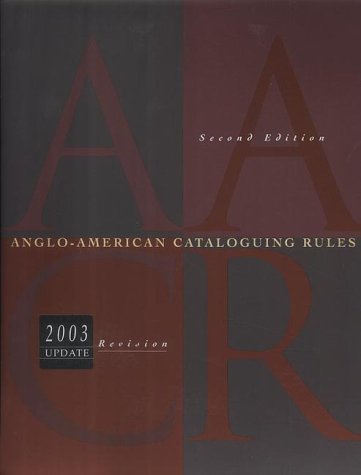 Anglo-American Cataloguing Rules by American Map Corp.