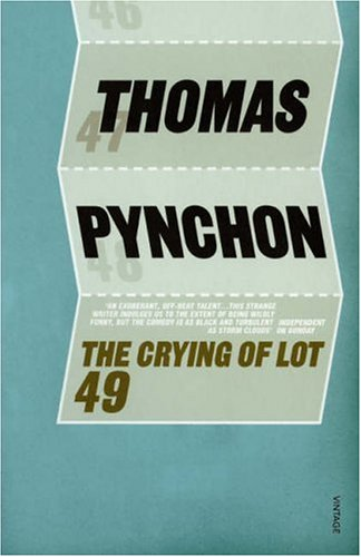 a thermodynamic reading of the crying of lot 49 (image courtesy of wikipedia) during tuesday's class, we explored a reading of the novel which hinges upon two different types of entropy, informational and thermodynamic pynchon explains these different entropies in terms of a theoretical machine proposed by the noted physicist jame.
