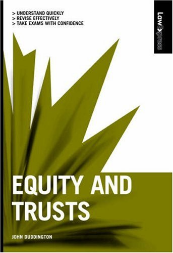 Equity And Trusts by John G. Duddington