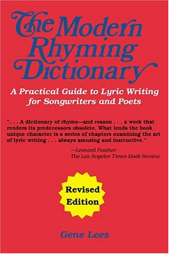 The Modern Rhyming Dictionary Editions by Gene Lees