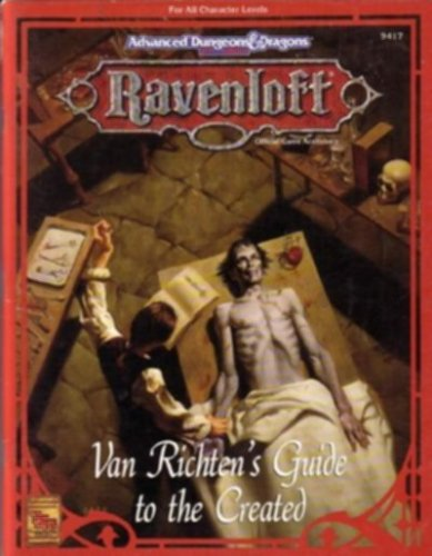 Van Richten's Guide To The Created by Teeuwynn Woodruff