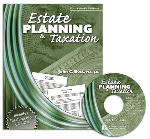 Estate Planning & Taxation W/ Cd Rom