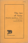 The Art of Noise (futurist manifesto, 1913)