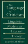 The Language of Criticism: Linguistic Models and Literary Theory.
