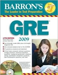 Barron's GRE 2008 with CD-ROM by Sharon Weiner Green