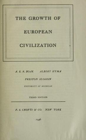 The Growth of European Civilization Volume II From The Reformation To The Present