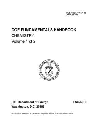 DOE FUNDAMENTALS HANDBOOK CHEMISTRY Volume 1 of 2