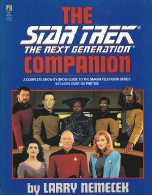 The Star Trek The Next Generation Companion by Larry Nemecek