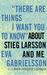 """There Are Things I Want You to Know"" About Stieg Larsson and Me: 1030"