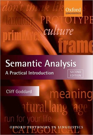 Semantic Analysis by Cliff Goddard