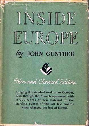 Inside Europe by John Gunther