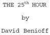 25th Hour [screenplay]