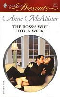 The Boss's Wife For A Week by Anne McAllister