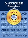 24 Art Nouveau Display Fonts CD-ROM