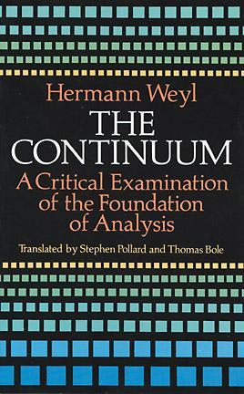 The Continuum by Hermann Weyl