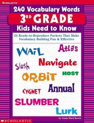 240 vocabulary words 3rd grade kids need to know 24 ready to