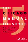 The Chicago Manual of Style by The University of Chicago P...