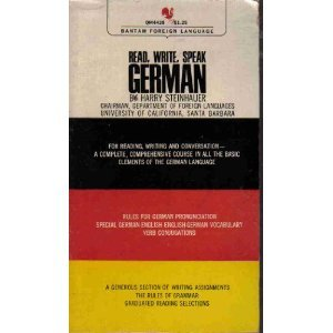 Read, Write, Speak German by Harry Steinhauer