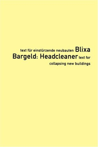 Headcleaner by Blixa Bargeld
