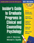 Insider's Guide to Graduate Programs in Clinical and Counseling Psychology: 2010/2011 Edition