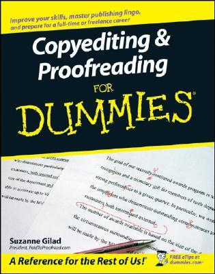 Copyediting & Proofreading for Dummies by Suzanne Gilad