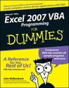 Excel 2007 VBA Programming for Dummies
