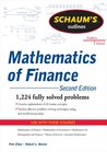Schaum's Outline of Mathematics of Finance, Second Edition (Schaum's Outline Series)