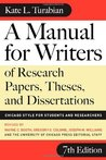 A Manual for Writers of Research Papers, Theses, and Disserta... by Kate L. Turabian