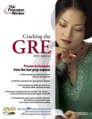 Cracking the GRE with DVD, 2009 Edition (Graduate School Test Preparation)