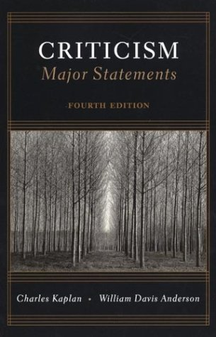 Criticism Major Statements by Charles Kaplan