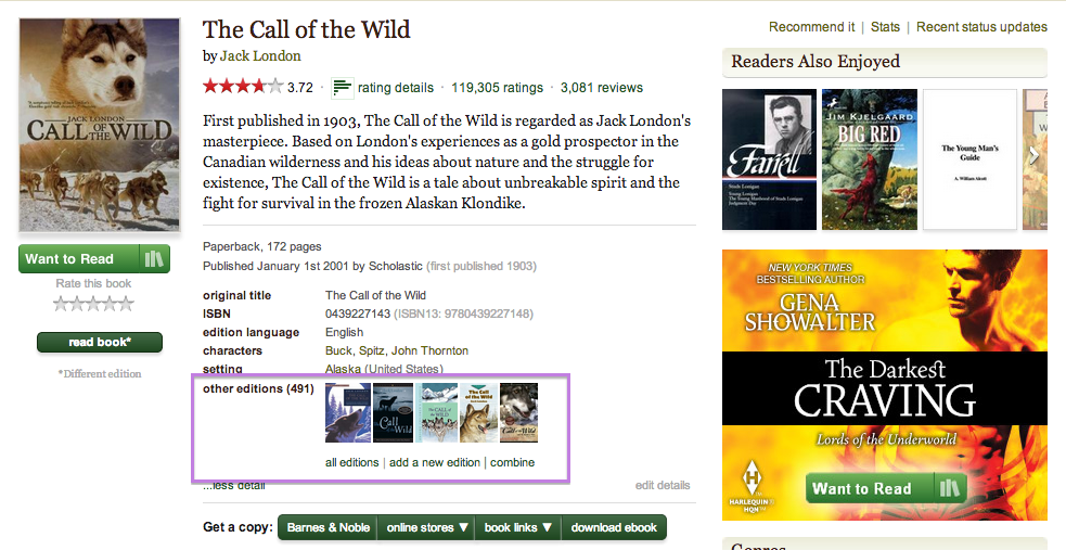 Goodreads help topics see here for a screenshot fandeluxe