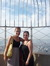 Viola and Celestina atop the Empire State Building