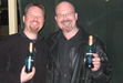 I found the pic of my mate and I drinking the Romulan Ale.