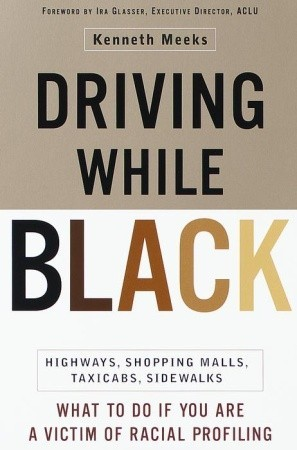 Black driving paper profiling racial term while