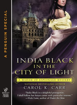 book cover: india black in the city of light by carol k. carr