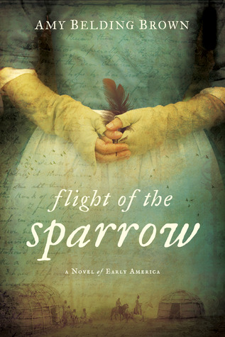 book cover: flight of the sparrow by amy belding brown