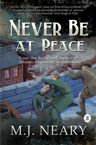 book cover: never be at peace by m.j. neary