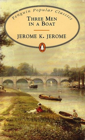 Cover of the novel 'Three Men in  Boat,' by Jerome K. Jerome.